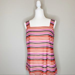 CAbi London Calling Banded Striped Tank Top Size S